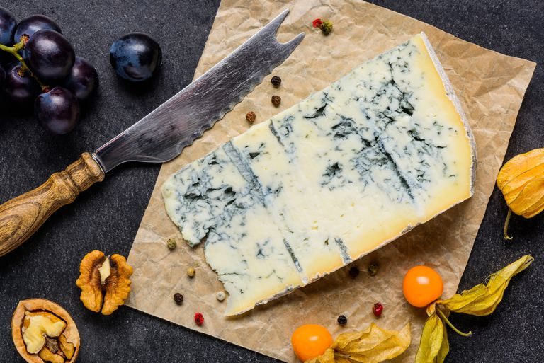piece of moldy cheese made with unpasteurized milk which could harbor listeria