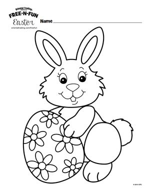231 Free Printable Easter Bunny Coloring Pages
