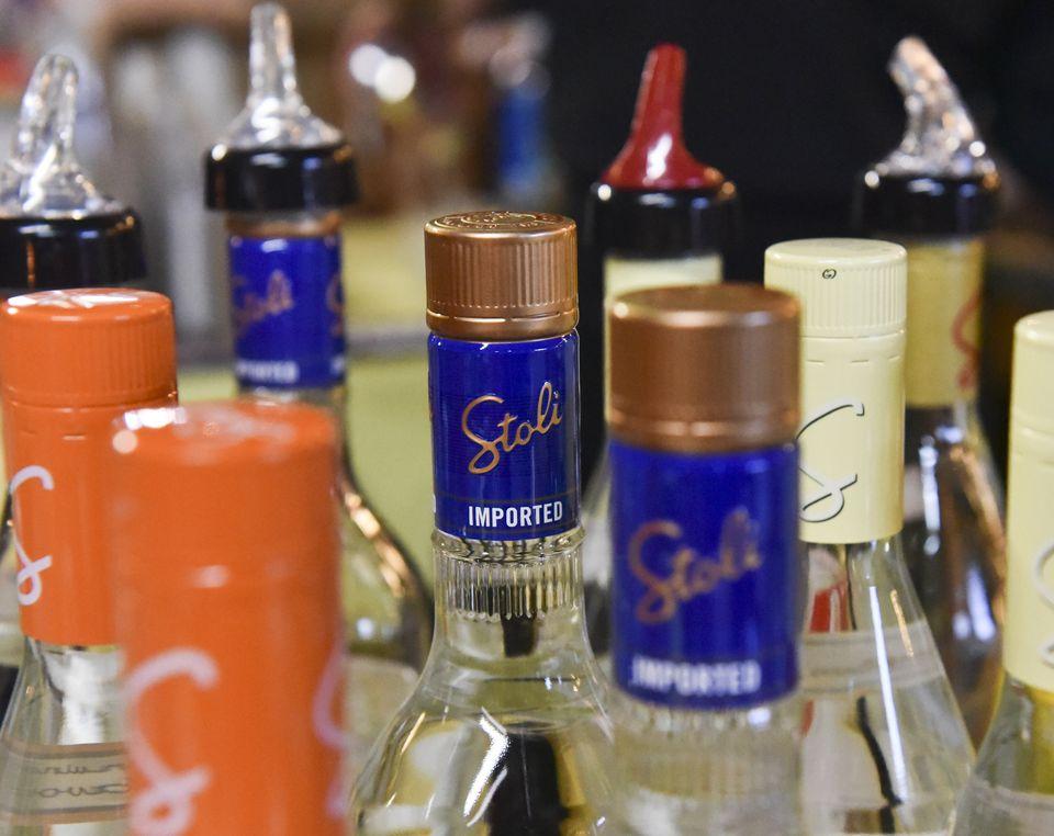 Stoli - Stolichnaya vodka bottles