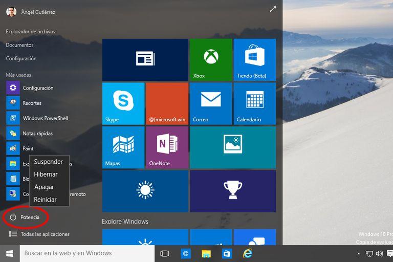 Apagar reiniciar Windows 10