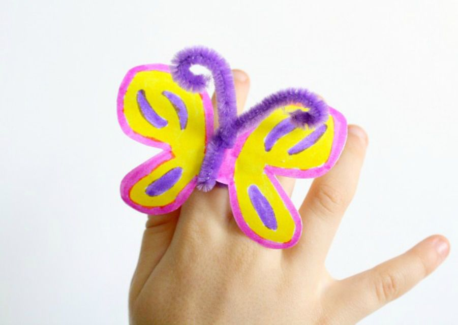 butterfly ring kids craft