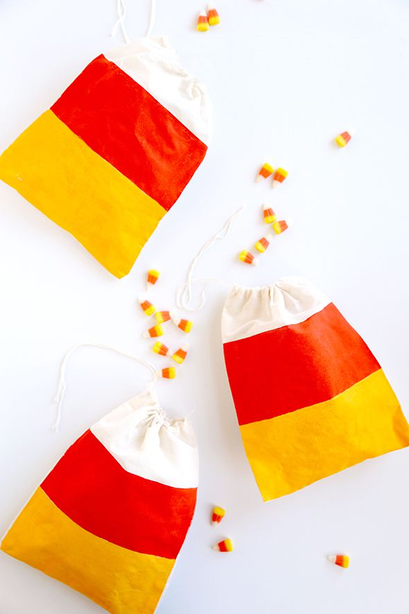 DIY Candy Corn Bags
