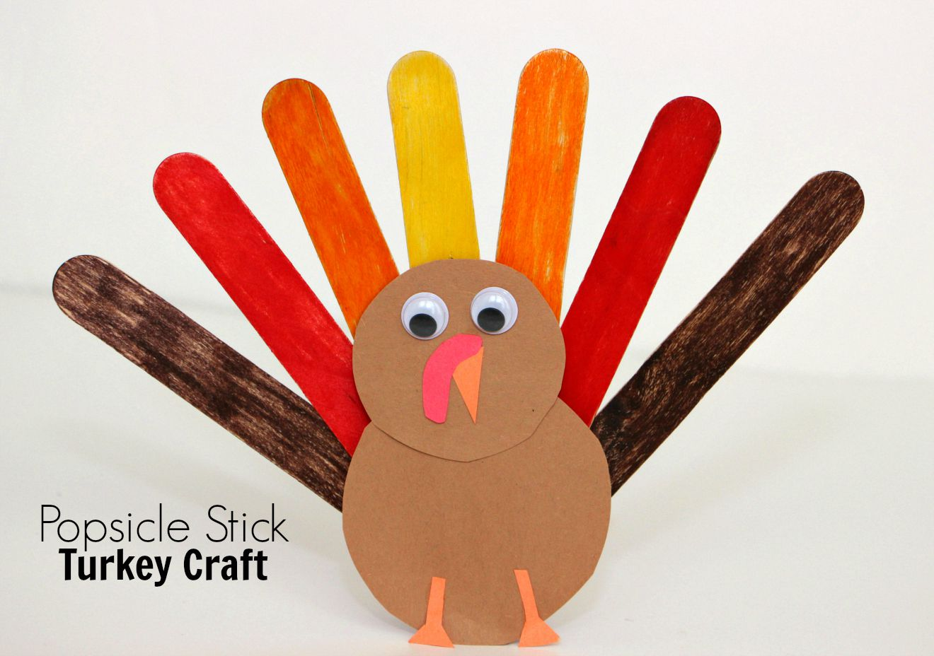 Ice Cream Stick Fall Crafts For Toddlers