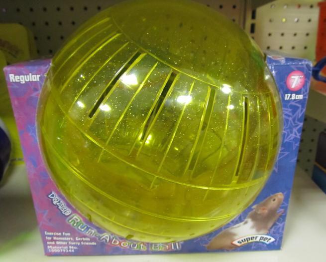 Small animal exercise ball