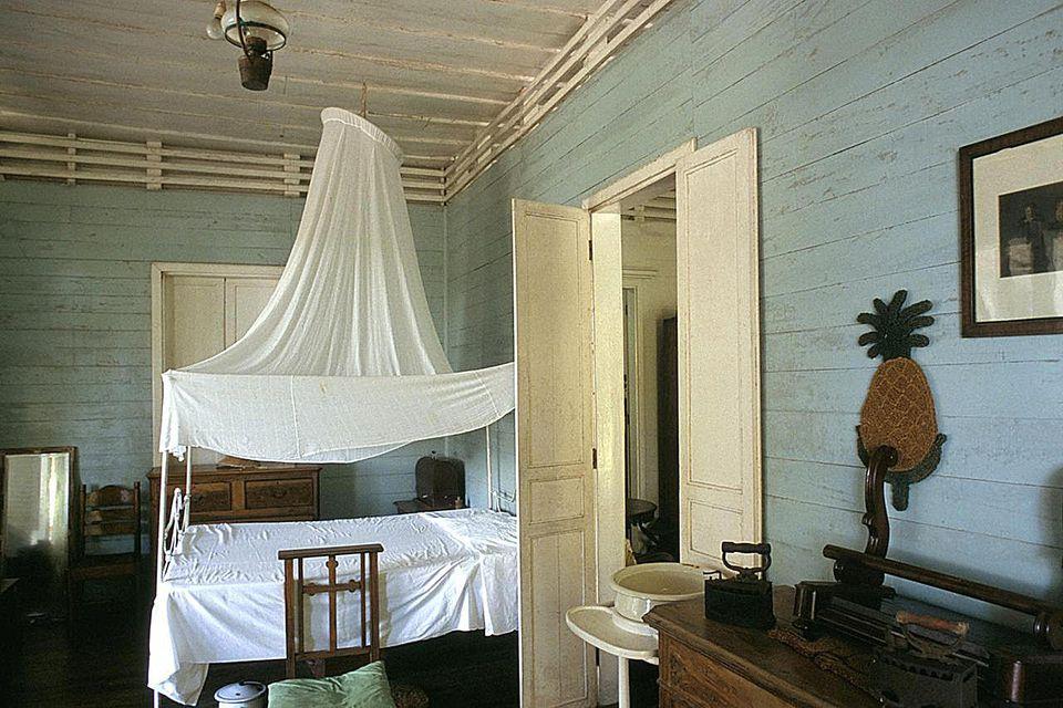 Interior, Habitation Saint Joseph (Institut Kreol des Seychelles) (Kreol Institute), island of Mahe, Seychelles, Indian Ocean, Africa