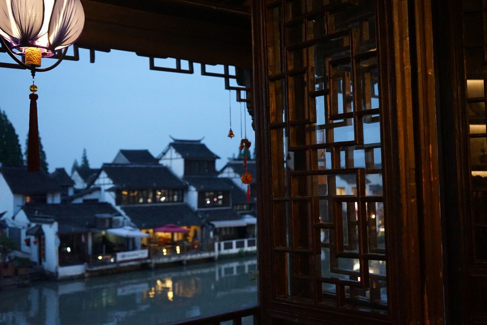 zhujiajiao teahouse view