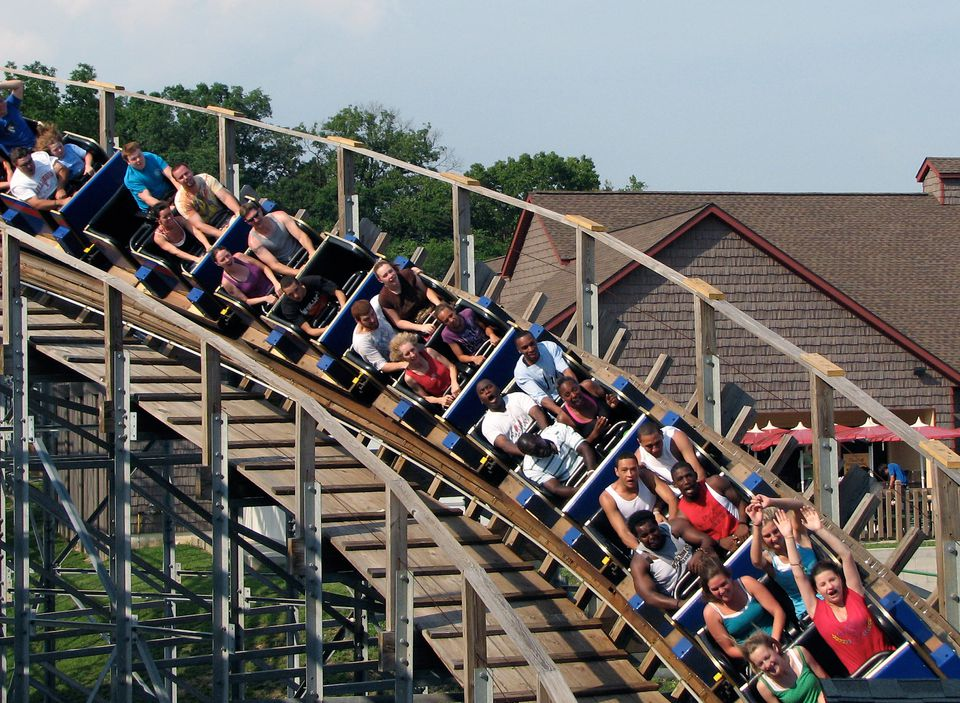 The Voyage coaster at Holiday World.