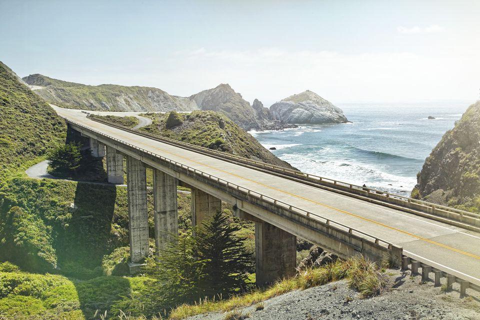 empty bridge overlooking the sea
