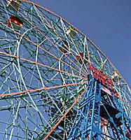 Wonder Wheel Ferris wheel at Deno's Wonder Wheel Park at Coney Island
