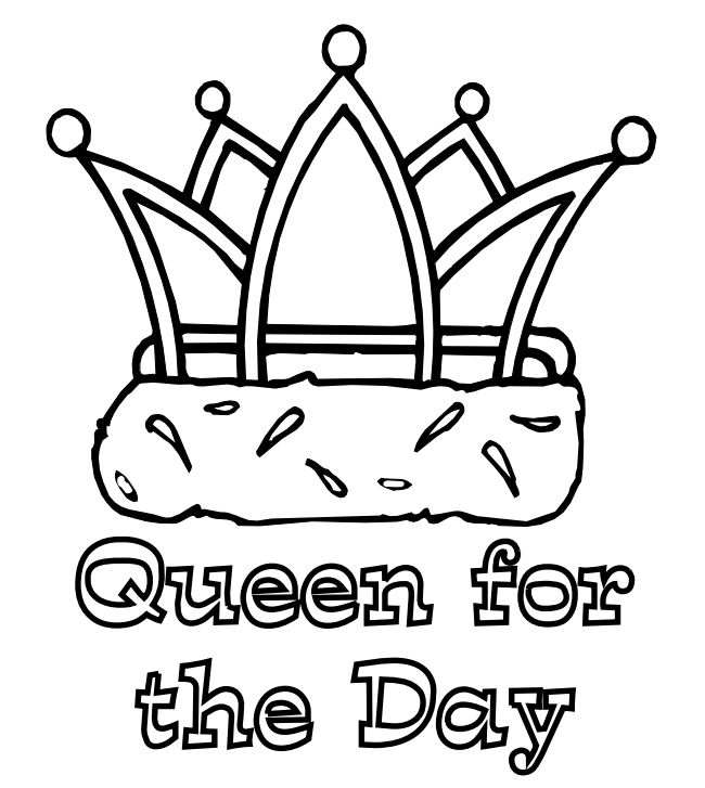 Apples 4 The Teacher Mothers Day Coloring Pages A Crown And Phrase Queen For