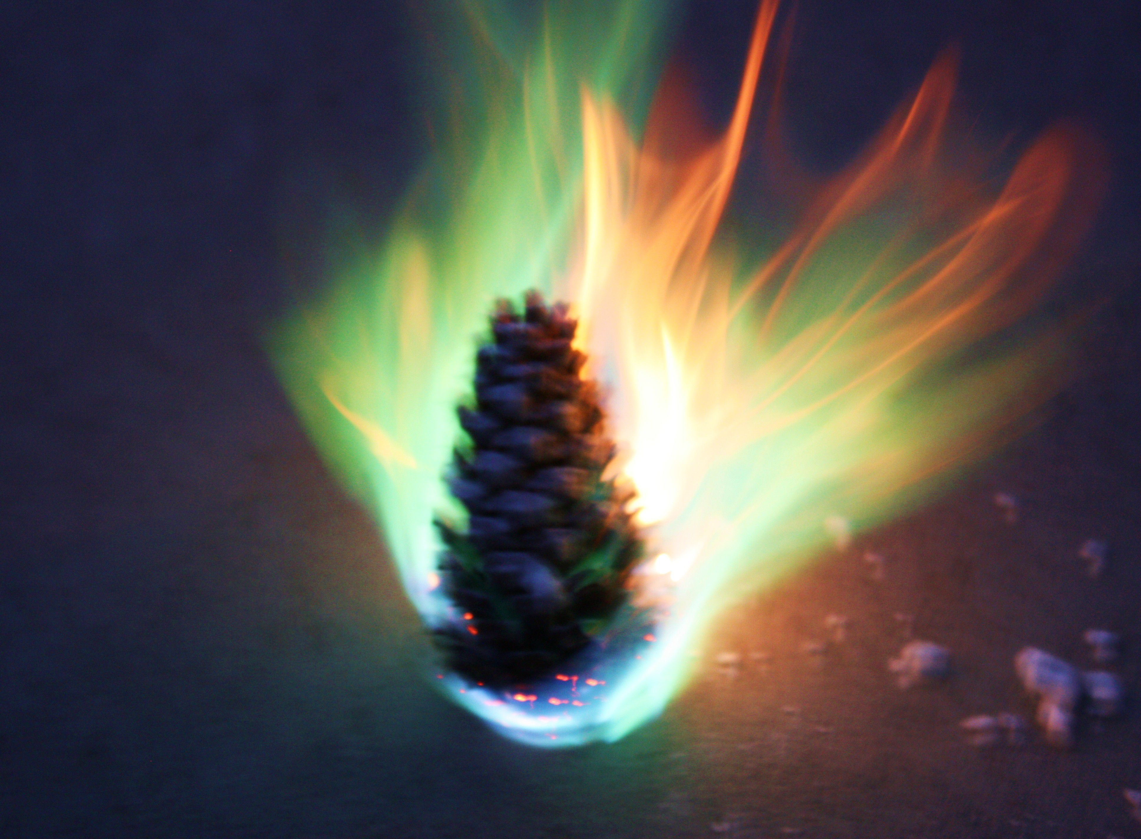 How to Make Colored Fire Pinecones