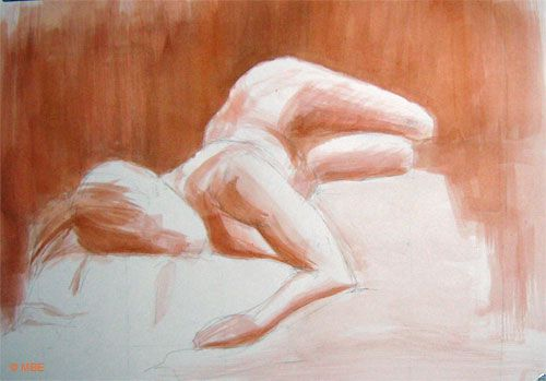 Foreshortening in a painting