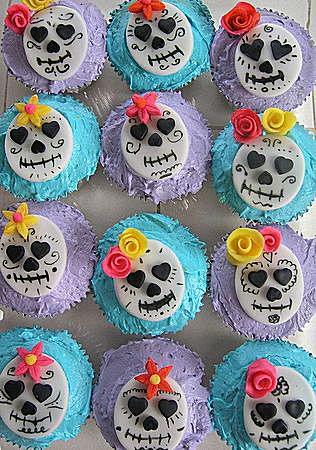 Dia de los Muertos, Day of the Dead, cupcakes, parties, kids, children, skulls, skeletons, celebrati