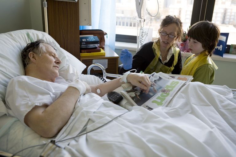 Hospital Patient Receiving Visit From Family