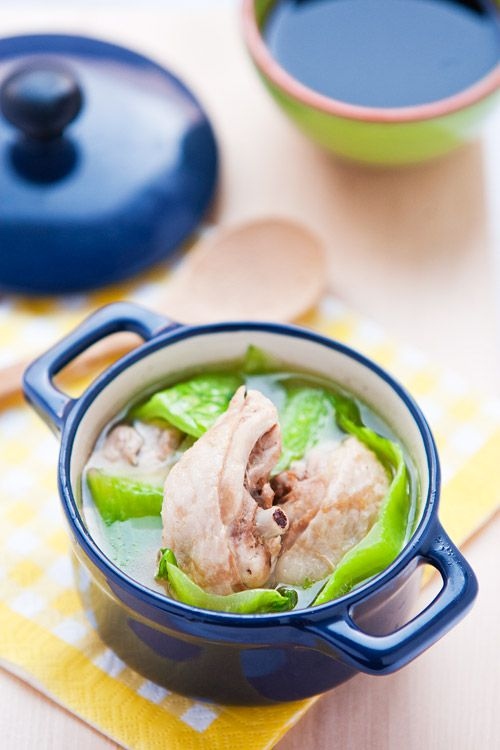 Mustard Green Chicken Soup
