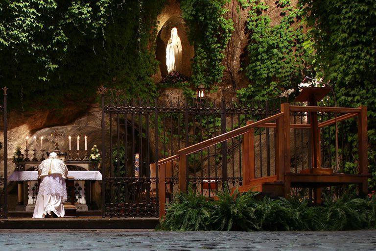 Pope Benedict XVI at Lourdes
