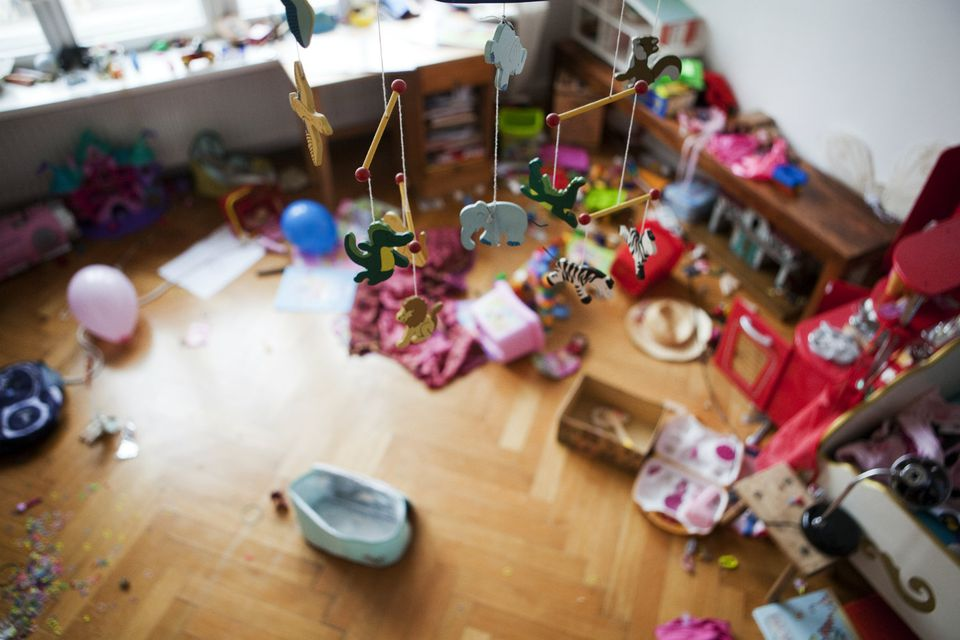 How to Stop Driving Yourself Crazy About Playroom Clutter
