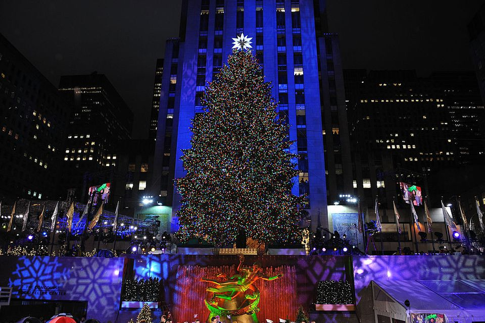 The Christmas Tree in New York City's Rockefeller Center.