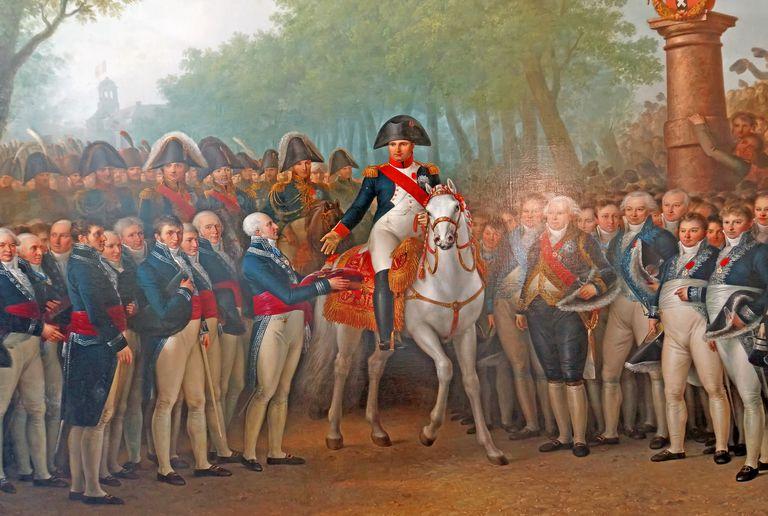 The Arrival of Napoleon at Amsterdam, 1812-13, by Mattheus Ignatius van Bree (1773-1839)