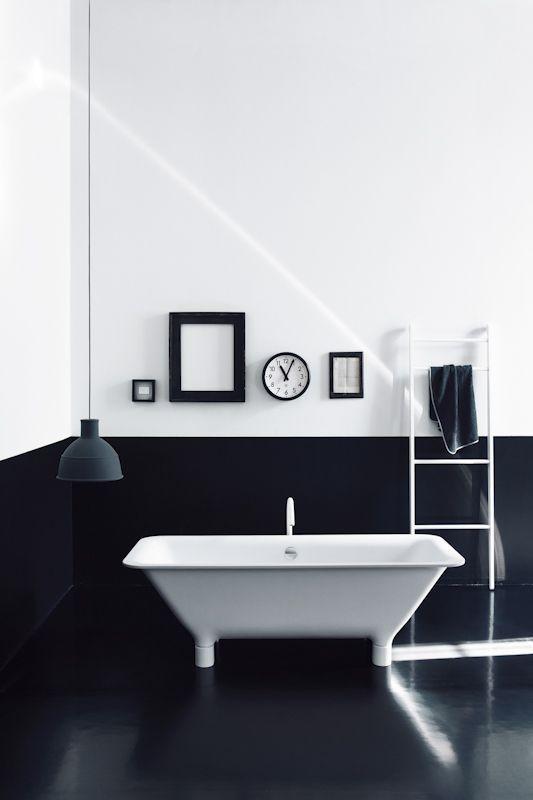 black and white bathroom 5 - White Bath Tile