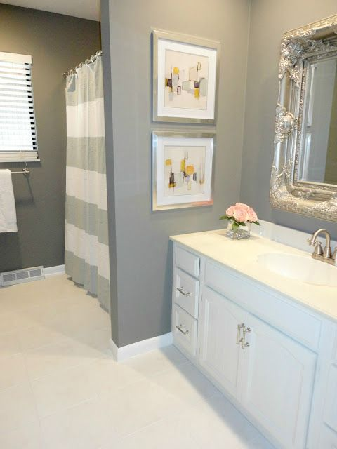 beautiful gray bathroom - Gray Bathroom Ideas