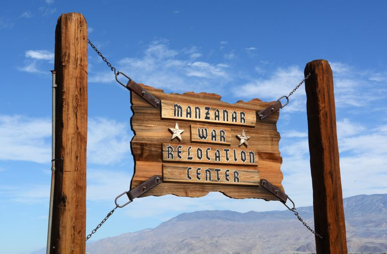 Sign showing the Manzanar Internment Center