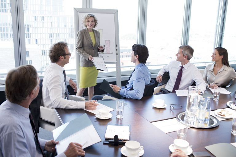 Businesswoman talking in meeting