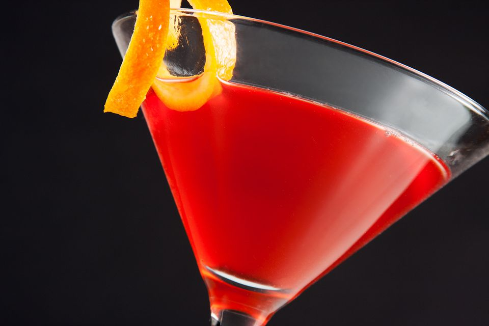 Peach Pomegranate Holiday Martini