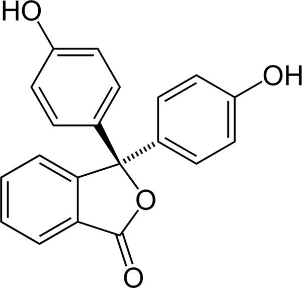 This is the chemical structure of phenolphthalein.