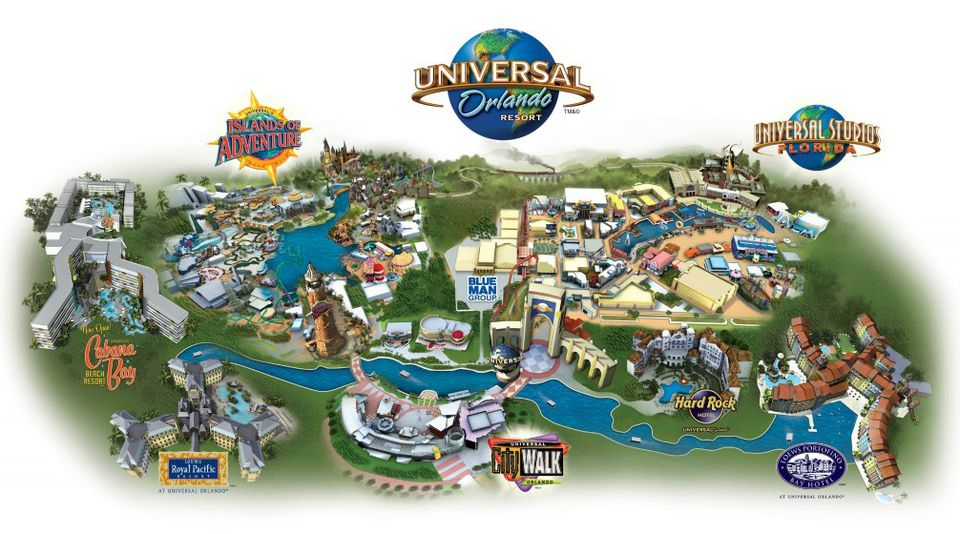 Maps Of Universal Orlando Resort's Parks And Hotels: Map Universal Studios Orlando At Slyspyder.com