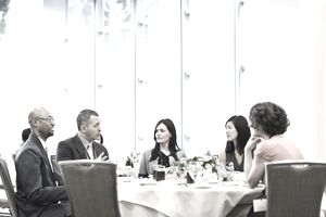 Conference lunch conversation
