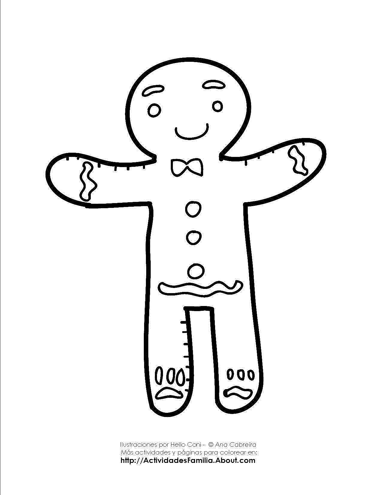 Excepcional Galletas De Navidad Para Colorear Ideas - Dibujos Para ...