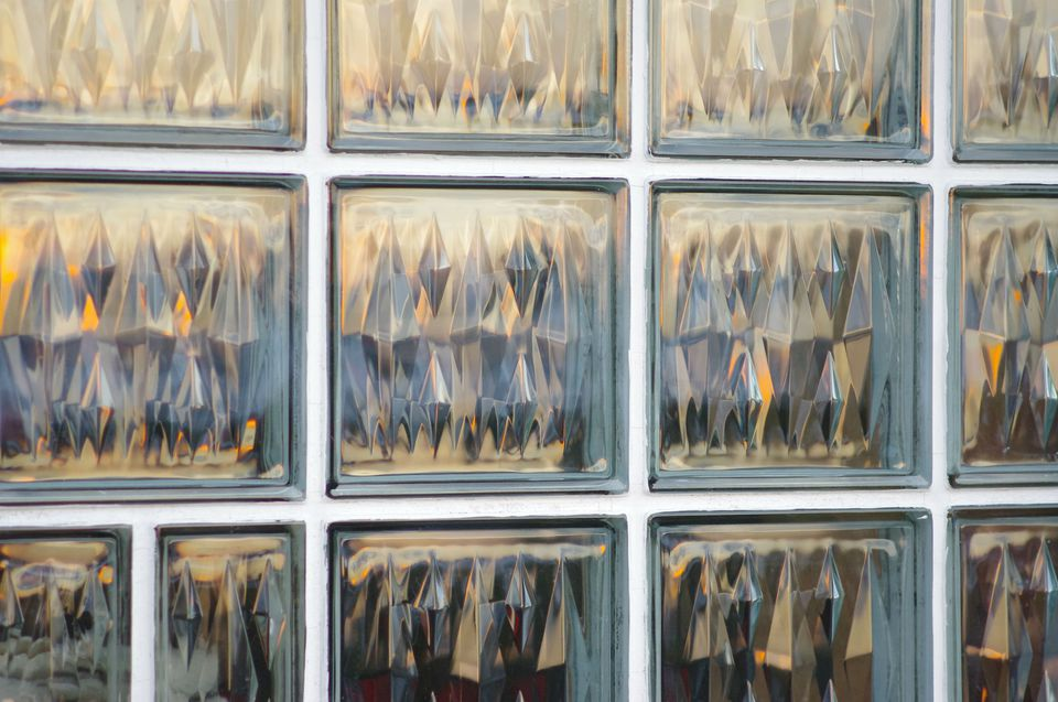Detail Shot Of Glass Block
