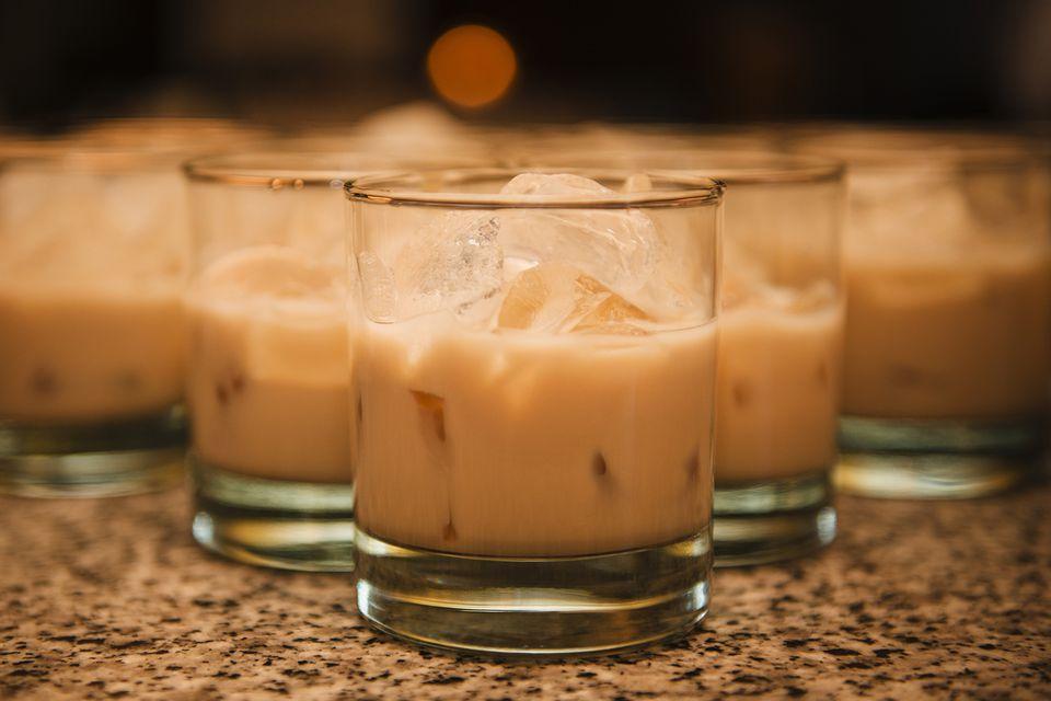 Peah Cobbler Cocktail