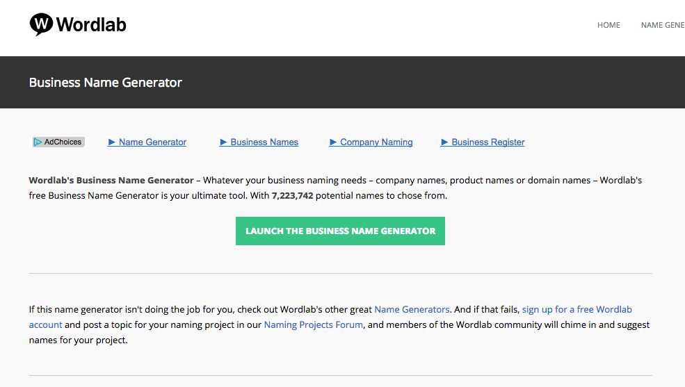 6 Awesome Free Business Name Generators