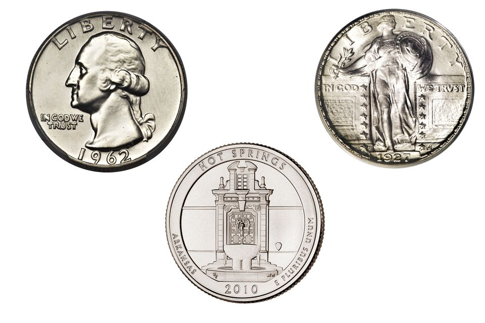 Three Different United States Quarter Dollars