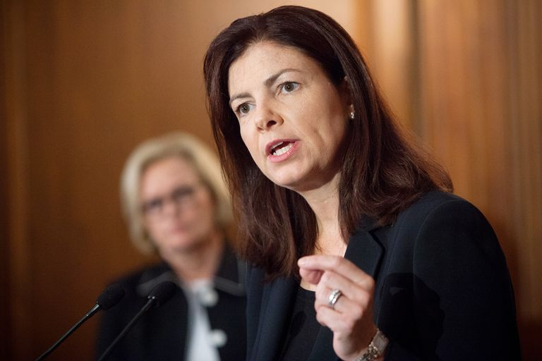 Sen. Kelly Ayotte (R-NH) speaks at a news conference July 25, 2013