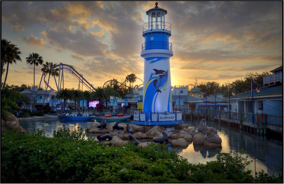 SeaWorld Orlando 50th Celebration Lighthouse