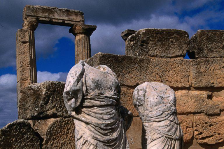Goddess statues, Cyrene