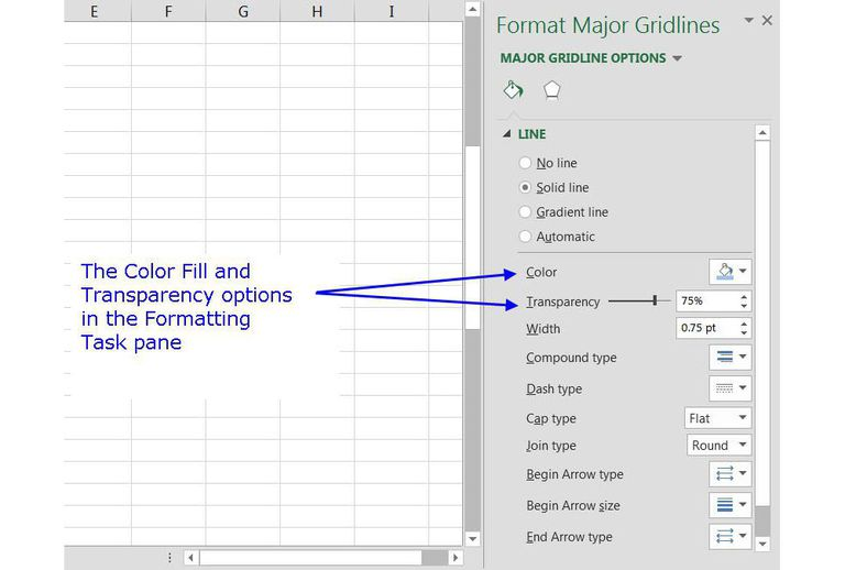 how to change the color of graph in excel