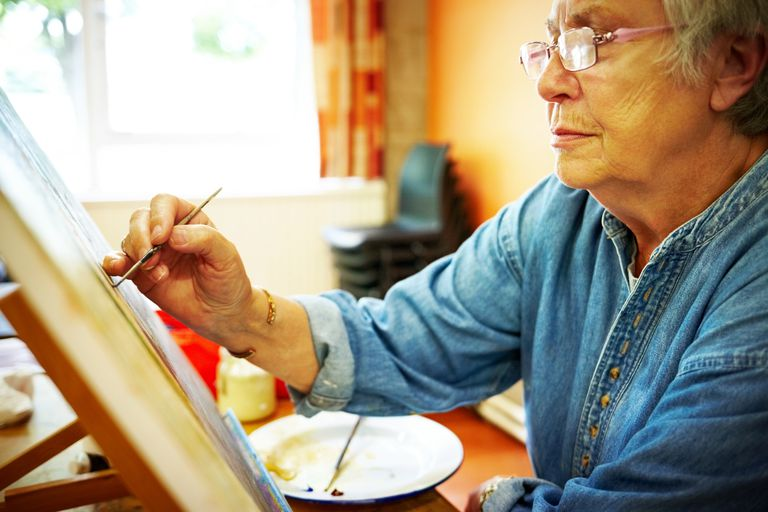 A Meaningful Activity: Woman with Dementia Using Her Artistic Gifts