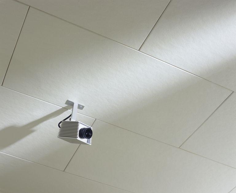 Video camera in office