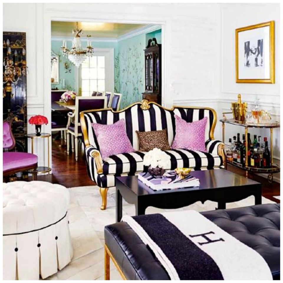 Dramatic Glamour. Dramatic Living Room.