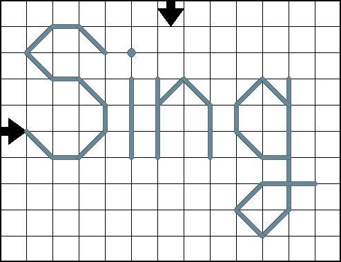 Sing Cross Stitch Pattern