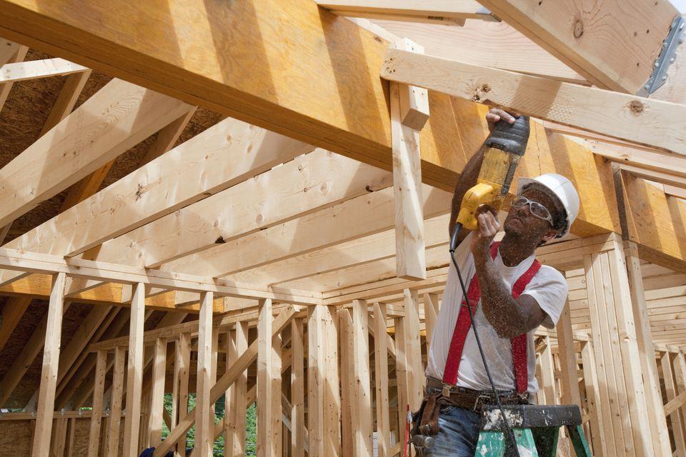 Carpenter Using a Reciprocating Saw