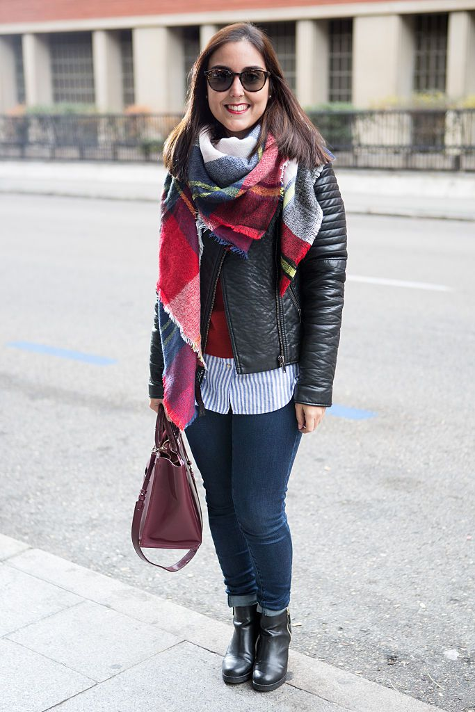 Street Style Guide: 28 Ways to Wear Jeans and a Leather Jacket