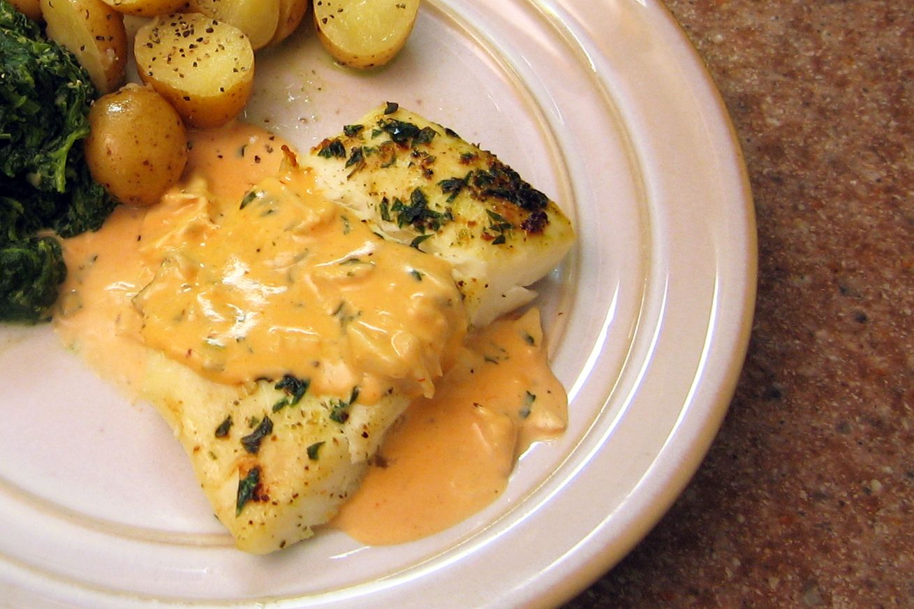 Sherry cream crab sauce recipe for Crab topping for fish