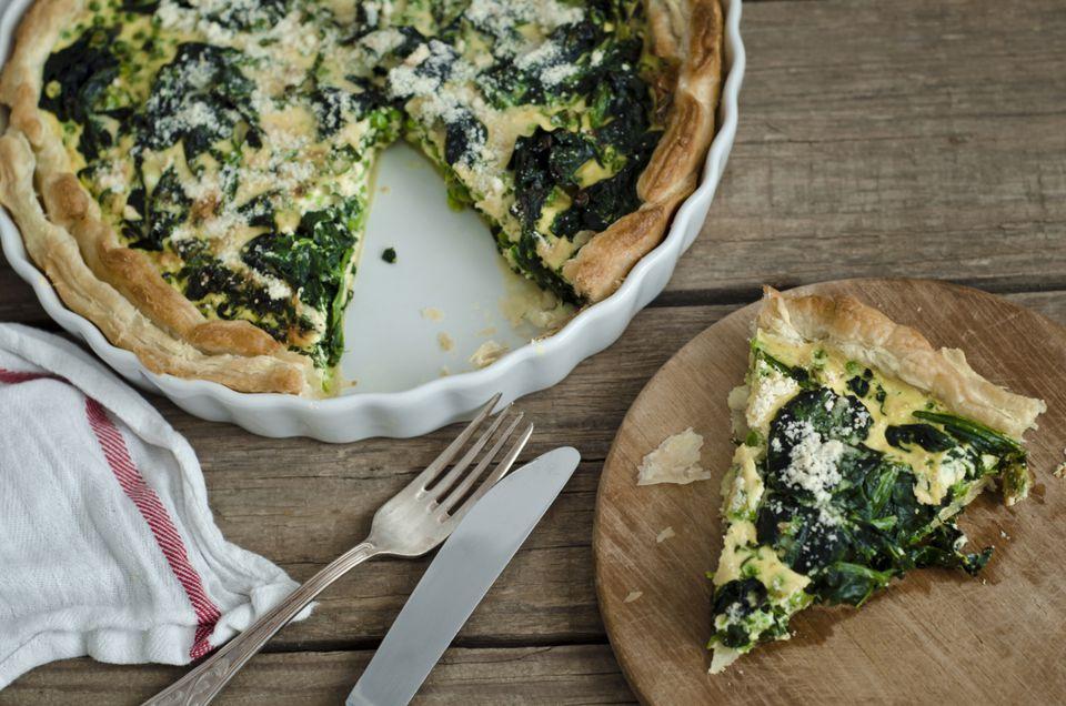 Low Calorie Spinach Parmesan Quiche