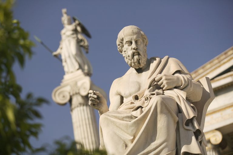 Plato Statue Outside the Hellenic Academy
