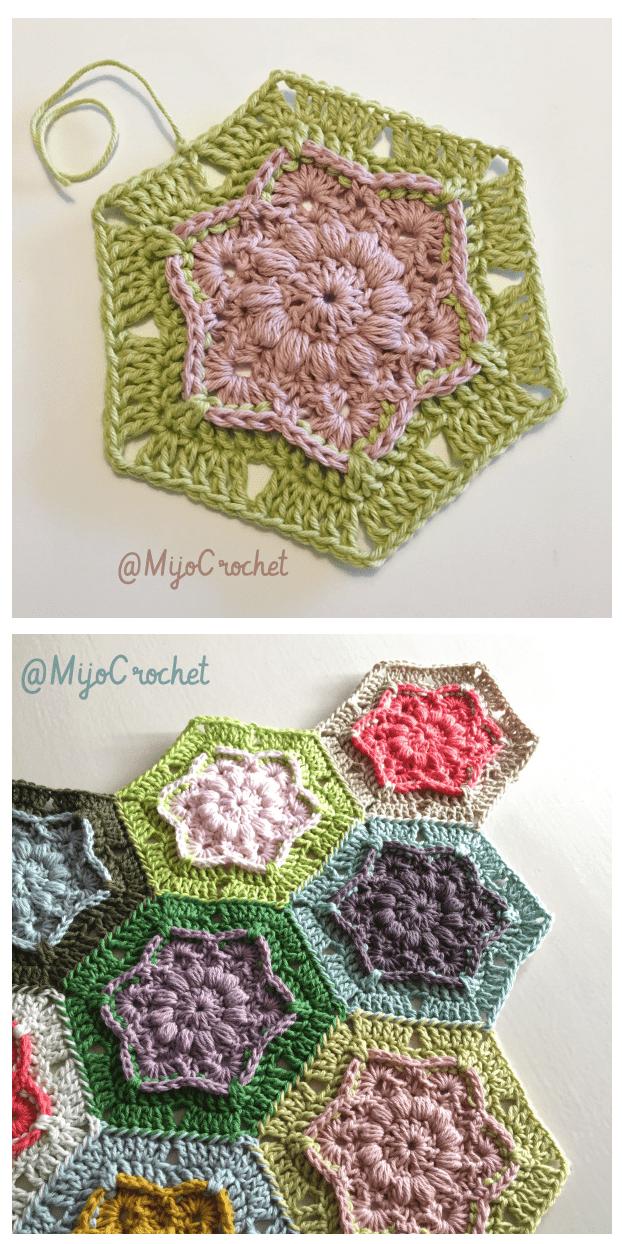 9 free crochet flower patterns wind flower hexagon free crochet pattern dt1010fo